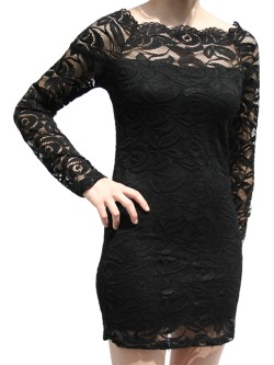 Robe courte manches longues