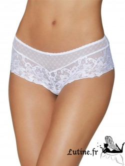 AUBADE Shorty Saint Tropez dentelle blancge Wandering Love""
