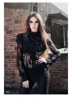 Chemise gothique à jabot