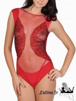 Lisca Queen Rose Body brésilien dentelle rouge