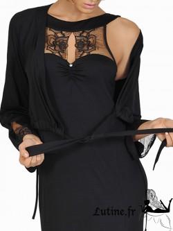 Lisca Queen Rose Boléro dentelle noire
