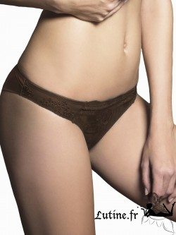 LUNA HONEYMOON Brésilien dentelle chocolat
