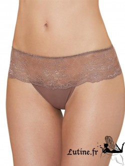 AUBADE LES HIPSTERS Hot Tanga dentelle cappuccino