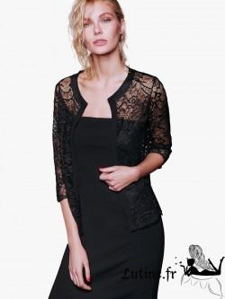 "ROSSOPORPORA ""Luxury"" veste dentelle noire"