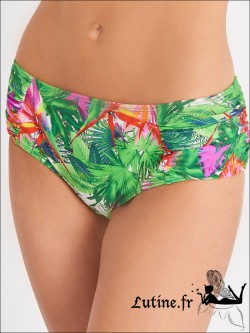 AUBADE Fleur Tropicale Shorty coloris Paon
