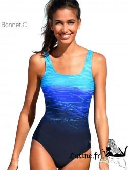 LASCANA BATIK Maillot de bain 1 pièce bonnet C coloris bleu