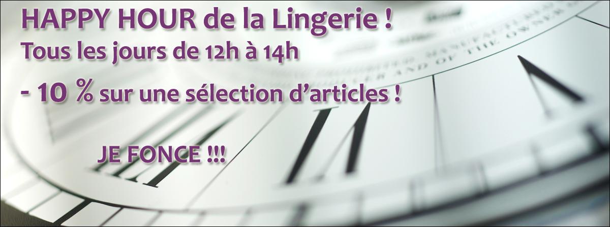 Happy Hour de la lingerie sur Lutine.fr !