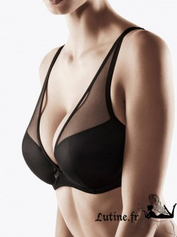 AUBADE NUDESSENCE Soutien-gorge triangle push-up confort tulle noir