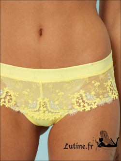 SIMONE PERELE WISH Shorty dentelle Citron Frappé