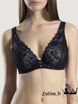 AUBADE POESIE D'ORIENT Soutien-gorge triangle armatures confort dentelle coloris Nuit Bleue