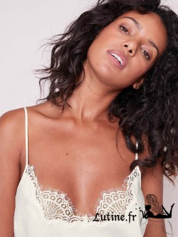 SIMONE PERELE ECLIPSE Top satin coloris Naturel