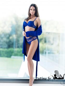 LISCA ROYAL WISH Déshabillé coloris Bleu Roi