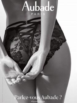 Culotte taille haute dentelle noire AUBADE NUIT INDECENTE Promo
