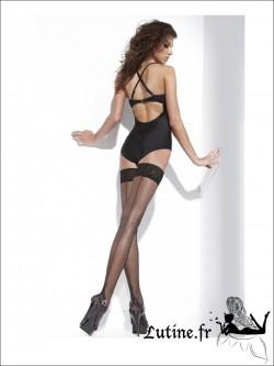 Bas couture auto-fixants noirs AMELIA de TENDANCE SENSUELLE