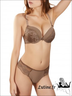 Soutien-gorge Double Push-up marron
