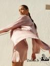 SIMONE PERELE PENSEE Kimono Soie coloris Rose Taupe