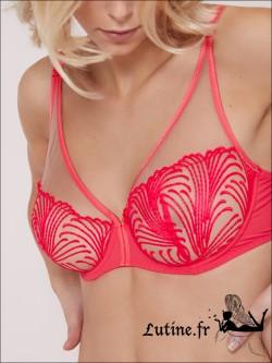 Soutien-gorge Décolleté Plongeant coloris Good Mood Pink NUANCE SIMONE PERELE