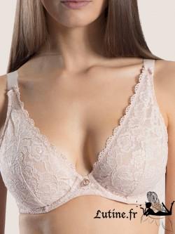 AUBADE ROSESSENCE Soutien-gorge triangle confort dentelle coloris Nude d'été