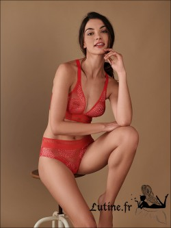 Soutien-gorge Triangle sans armatures Rouge Flamingo URBAN IMPLICITE