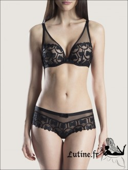 Soutien-gorge triangle Noir AUBADE THE BOW COLLECTION VIKTOR and ROLF