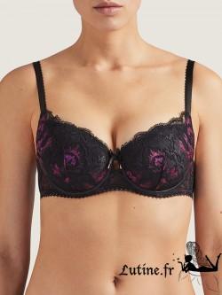 AUBADE AUBE AMOUREUSE Soutien-gorge corbeille coque coloris Violetta vu de face