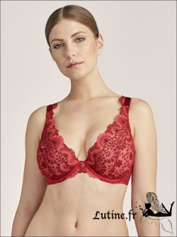 Soutien-gorge triangle confort rouge ART OF INK AUBADE