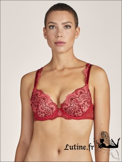 Soutien-gorge Push-up rouge ART OF INK AUBADE