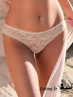 AUBADE ROSESSENCE Slip italien dentelle coloris Nude d'été