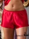 MARJOLAINE SOIE UNIE Short en soie coloris rouge