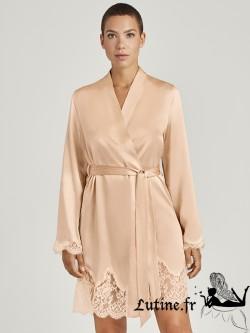 AUBADE TOI MON AMOUR Kimono Soie coloris Blond