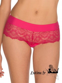 "BILLET DOUX Shorty dentelle rouge ""Pink Lady"""