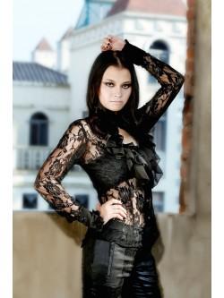 Chemise gothique dentelle noire