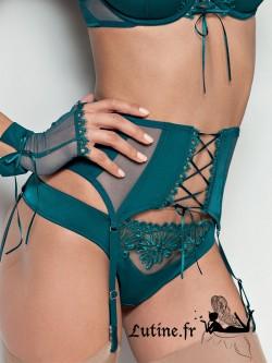 serre taille porte jarretelles vert Euphoria by Lisca