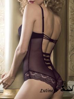 LUNA MIDNIGHT Body préformé dentelle violette