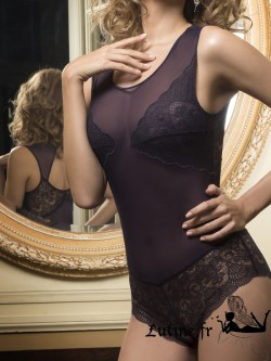 LUNA MIDNIGHT Body dentelle violette
