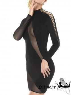 """CATANZARO LES P'TITES FOLIES 7.2 Robe noire courte """"Camelia"""""""