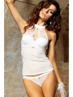 Bustier balconnet blanc Idylle by Lisca