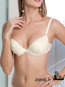 LUNA HONEY Soutien-gorge push-up multi-positions dentelle ivoire