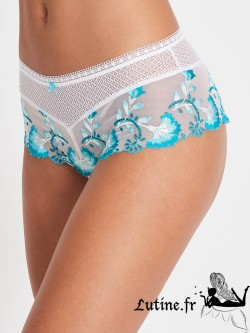 AUBADE NYMPHEA PARADIS Shorty St-Tropez dentelle coloris Nénuphar