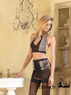 IMPUDIQUE de CATANZARO Top DUNE tulle noir
