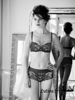 SIMONE PERELE AMOUR Shorty dentelle anthracite