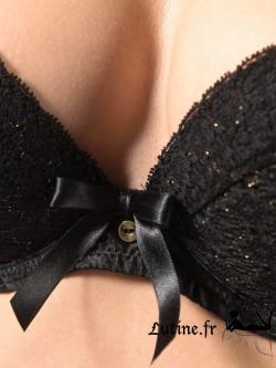 AUBADE FEMME AUBADE Soutien-gorge push-up dentelle noire