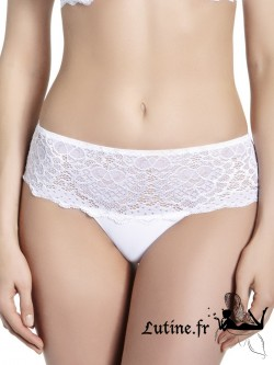 SIMONE PERELE CARESSE Shorty dentelle blanche