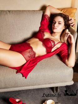 SABBIA de PARAH PASSIONALE Culotte haute dentelle rouge