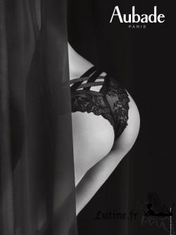 AUBADE FEMME PASSION Slip mini-coeur dentelle noire