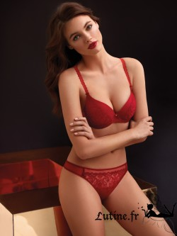 SELMARK GINA Soutien-gorge push-up rouge