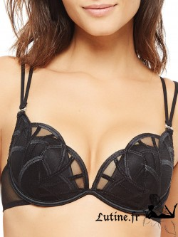 IMPLICITE DESTINY Soutien-gorge push-up tulle noir