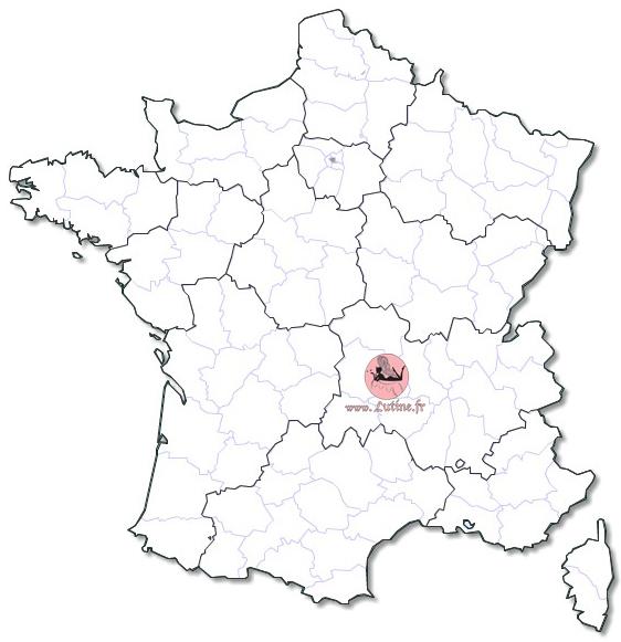 Carte de France LUTINE