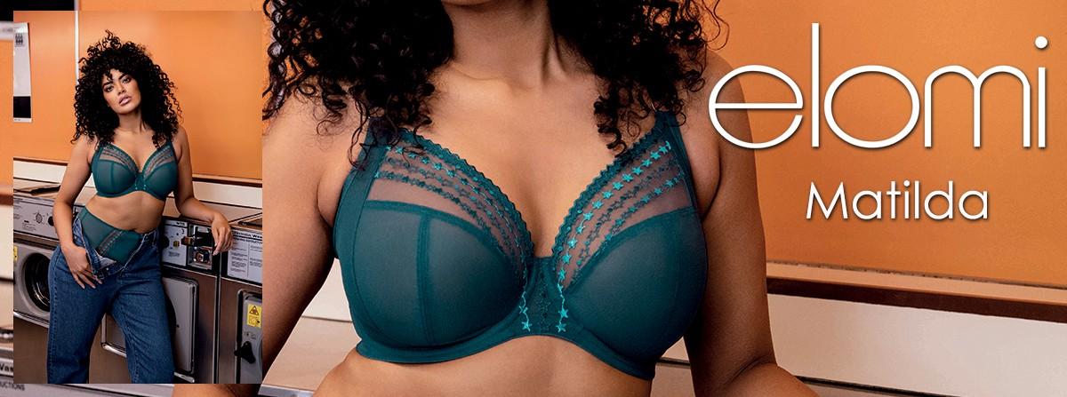 Découvrez la collection Spécial Grandes Tailles MATILDA de la marque ELOMI chez Lutine.fr !