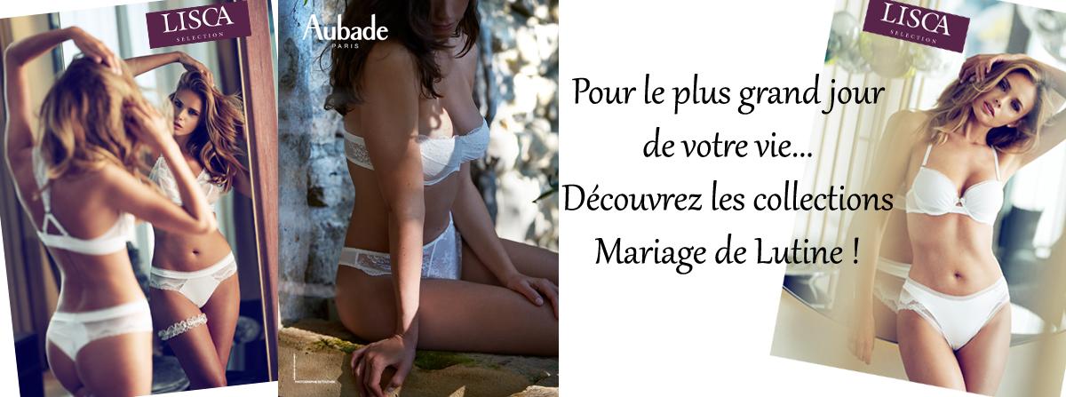 Découvrez les collections MARIAGE de Lutine.fr !  Livraison gratuite en France métropolitaine.